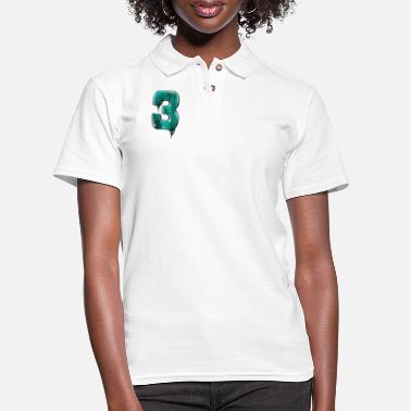 Jersey Number Jersey number 3 - Women's Pique Polo Shirt