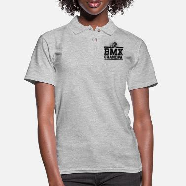 Bmx Grandfather BMX Grandpa - Women's Pique Polo Shirt