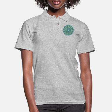 Mandala Chakra mandala mantra om chaos star circle 9098oce - Women's Pique Polo Shirt