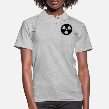 Nuclear Symbol - Women's Pique Polo Shirt