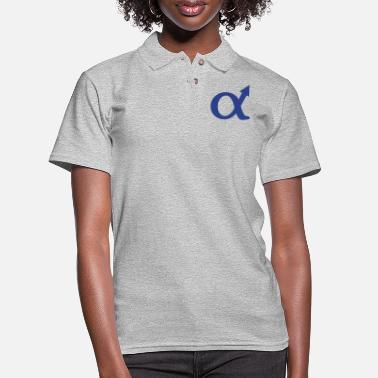 Satire alphamale symbol - Women's Pique Polo Shirt