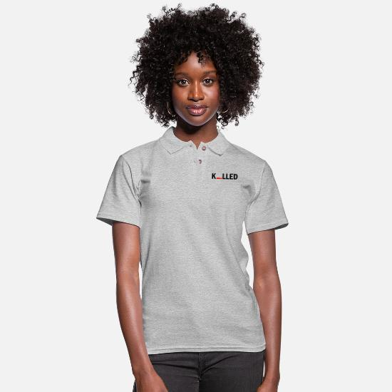 Bed Polo Shirts - killed - Women's Pique Polo Shirt heather gray