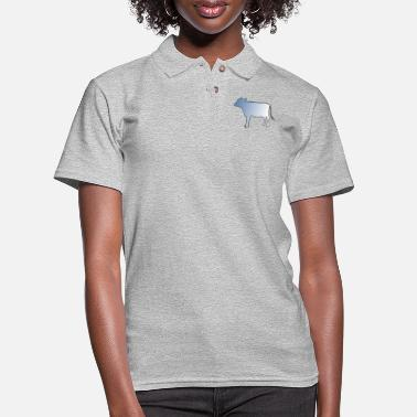 Cow Cut out with Fade - Women's Pique Polo Shirt