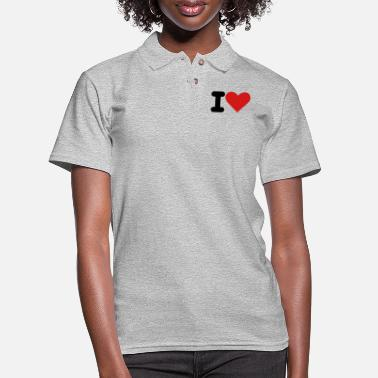 I Heart i heart - Women's Pique Polo Shirt