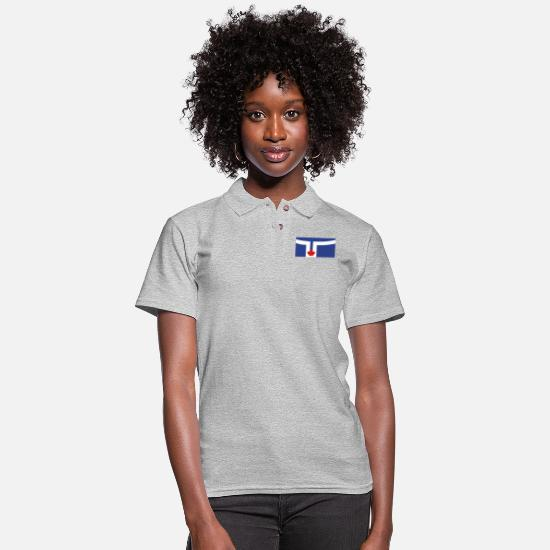 Ontario Polo Shirts - Flag of Toronto - Women's Pique Polo Shirt heather gray