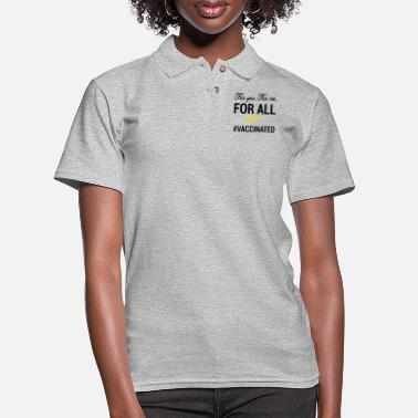 Kiss Me For you, For me, For all, Covid Vaccinated - Women's Pique Polo Shirt