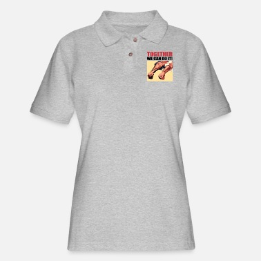 Popartcontest Together We Can Do It - Women's Pique Polo Shirt