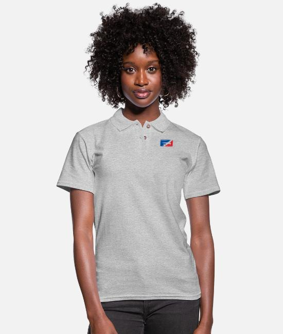 Mechanic Polo Shirts - Aircraft Mechanic - Aviation - Women's Pique Polo Shirt heather gray