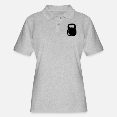 Great Bell Kettle Bell - Women's Pique Polo Shirt
