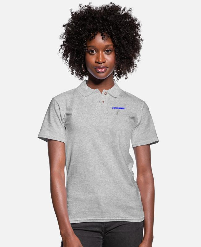 Rat Polo Shirts - Le rat des animaux cadeau anniversaire humour - Women's Pique Polo Shirt heather gray
