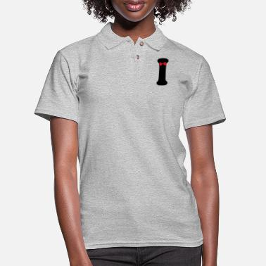 Hepatitis B-liver Cancer-hbv-breast Cancer ❤✔Alphabet I with a Red Ribbon✔❤ - Women's Pique Polo Shirt