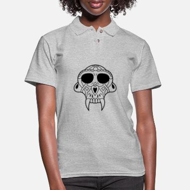 Vampire skull fangs - Women's Pique Polo Shirt