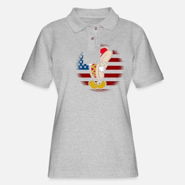 HAPPY 4TH YALL - Women's Pique Polo Shirt