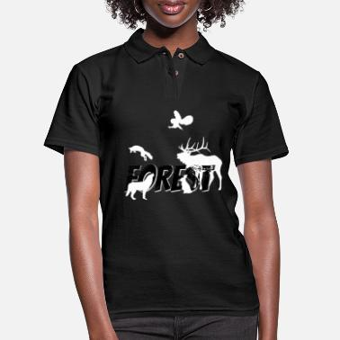 Forest Forest Forest Animals Forest Dweller Forester Gift - Women's Pique Polo Shirt