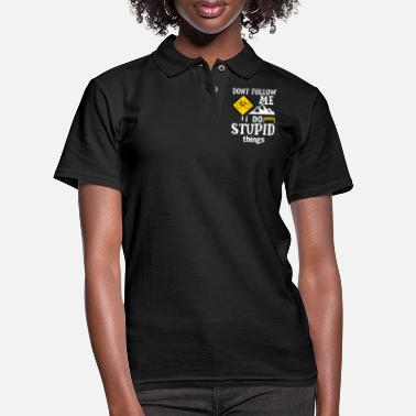 Road Mountain Biker Bike Biking Stunt Road Freestyle - Women's Pique Polo Shirt