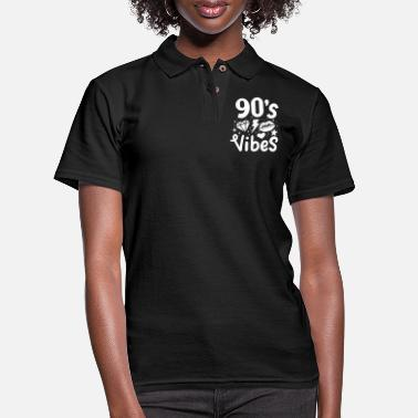 90 90s 90's - Women's Pique Polo Shirt