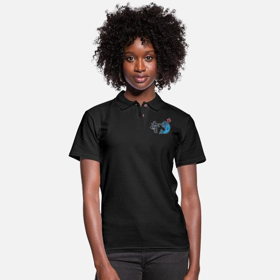 Knight Polo Shirts - Narval knight - Women's Pique Polo Shirt black