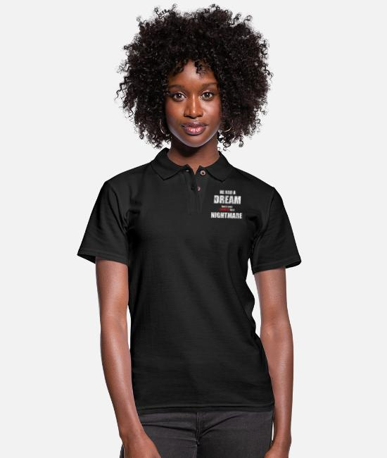 King Polo Shirts - He Had a Dream - Women's Pique Polo Shirt black