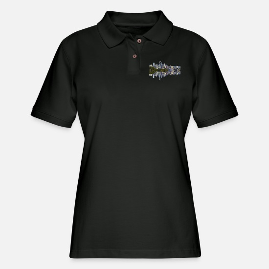 Seattle Polo Shirts - Seattle - Women's Pique Polo Shirt black