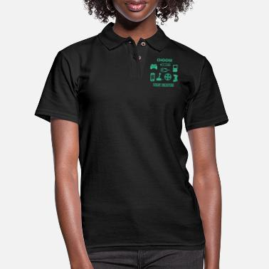 Computer Choose Your Weapon Controller Computer Humor Nerd - Women's Pique Polo Shirt