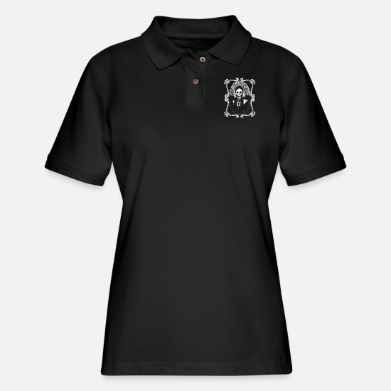 Game Polo Shirts - Madame Macabre - Women's Pique Polo Shirt black
