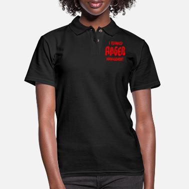 20 Something I Flunked Anger Management ©WhiteTigerLLC.com - Women's Pique Polo Shirt