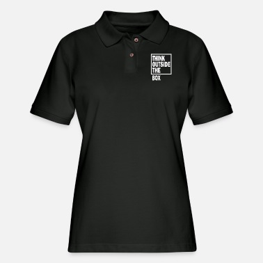 Nerd Think outside the box - Women's Pique Polo Shirt