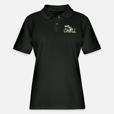 Chill - Marijuana Cannabis Joint Stoner Gift - Women's Pique Polo Shirt