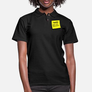 Reminder reminder beer - Women's Pique Polo Shirt