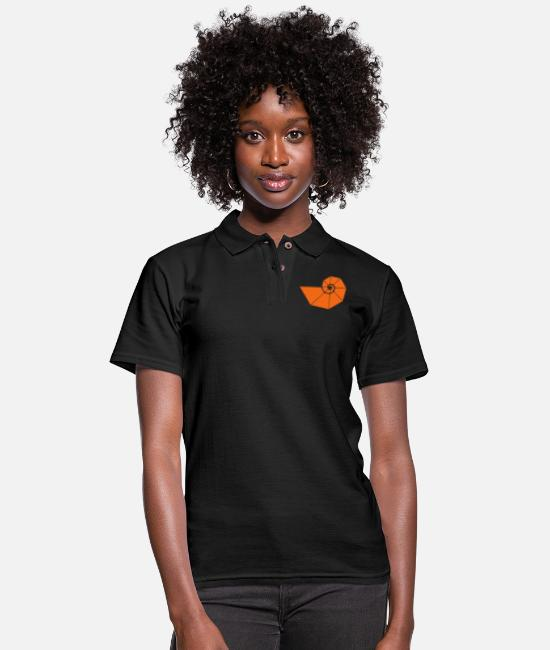 Buddhism Polo Shirts - Golden spiral, Fibonacci, Phi, geometry, physics - Women's Pique Polo Shirt black