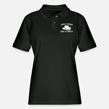 Cowboy Save A Horse - Women's Pique Polo Shirt