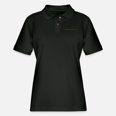 Geek replace war with peace - Women's Pique Polo Shirt