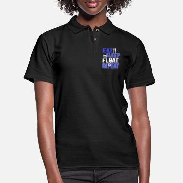 Float Tank Float Therapy Eat Sleep Float Repeat - Women's Pique Polo Shirt