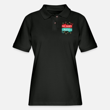 Part Part naughty part nice - Women's Pique Polo Shirt