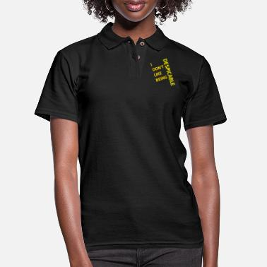Disgusting I don't like being despicable - Women's Pique Polo Shirt