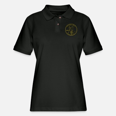 1909 Cent Penny Abraham Lincoln 1909 American Coin - Women's Pique Polo Shirt