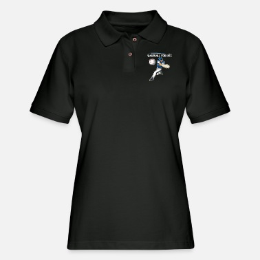 Baseball Player Baseball Player - Baseball Player - Women's Pique Polo Shirt