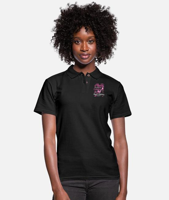 Womens Basketball Polo Shirts - Black Queens Are Born In October Shirt Women Birth - Women's Pique Polo Shirt black