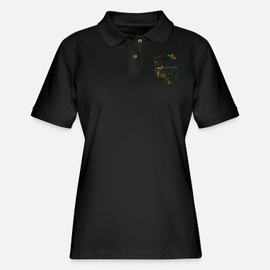 New York City Subway Map Nyc Lines Transit For Men - Women's Pique Polo Shirt