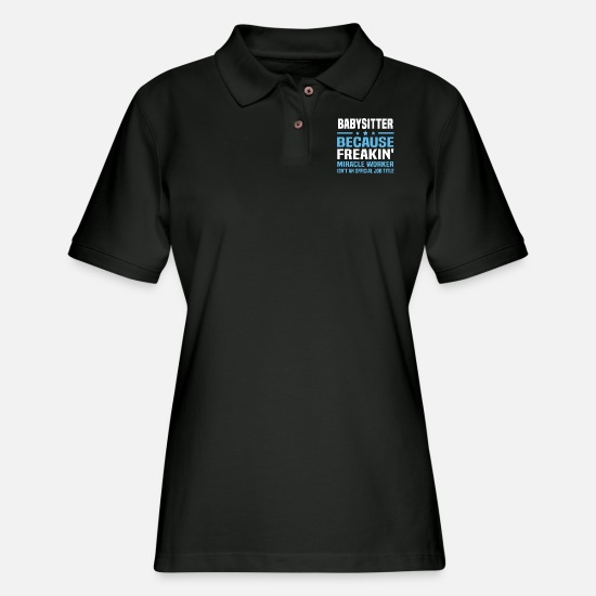 Babysitter Polo Shirts - Babysitter - Women's Pique Polo Shirt black