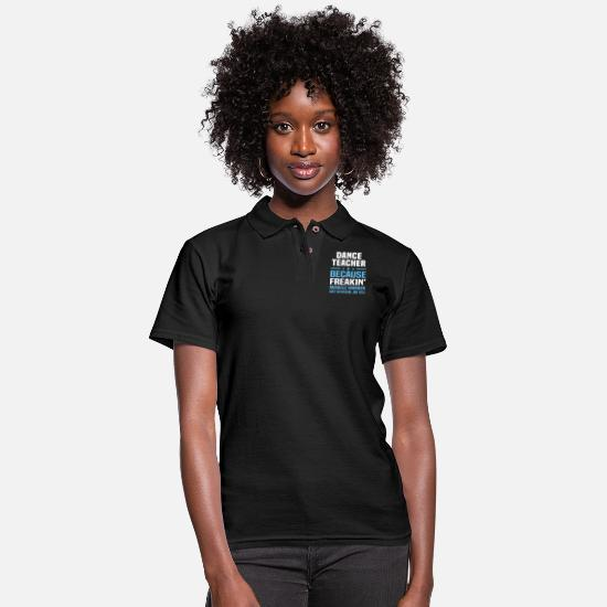 Teacher Polo Shirts - Dance Teacher - Women's Pique Polo Shirt black