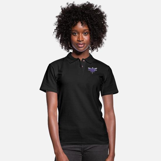 Ant Polo Shirts - Insect Dragonfly Tamer - Women's Pique Polo Shirt black