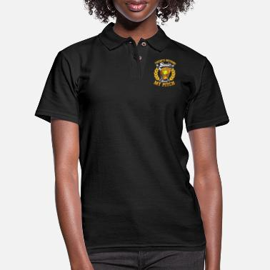 Pitch Cute There's Nothing Basic About My Pitch Softball - Women's Pique Polo Shirt