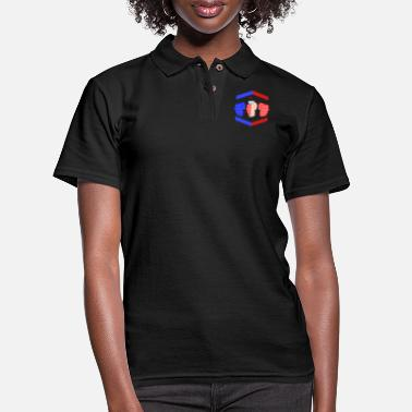 Gamebred Sticker 3 Piece And A Soda Cuban Gamebred MMA Fighter Fun - Women's Pique Polo Shirt