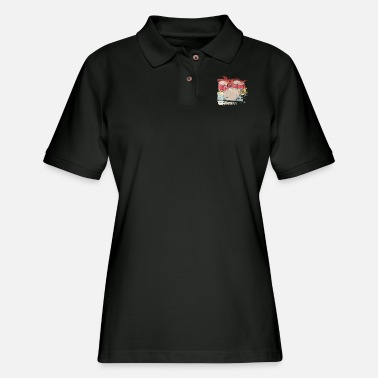 Band Retro Drums Gift Idea for Drummer - Women's Pique Polo Shirt