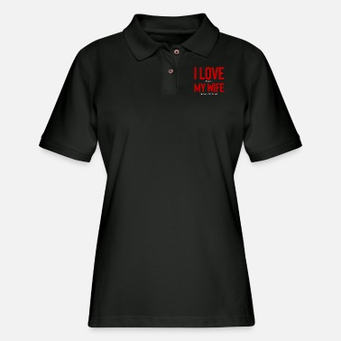 Funny Texas I Love When My Wife Lets Me Play Poker - Women's Pique Polo Shirt
