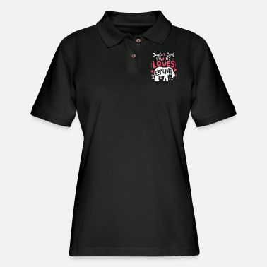 Love Elephant Love Girl - Women's Pique Polo Shirt