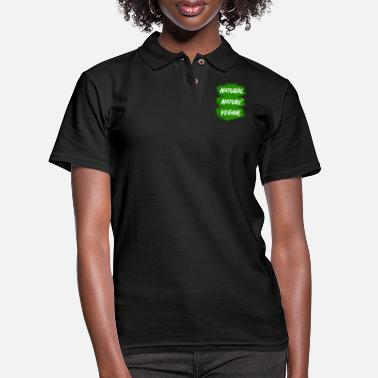 Nature Vegan - nature - natural - Women's Pique Polo Shirt