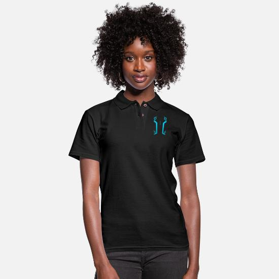 Lighting Polo Shirts - Light Suit - Women's Pique Polo Shirt black