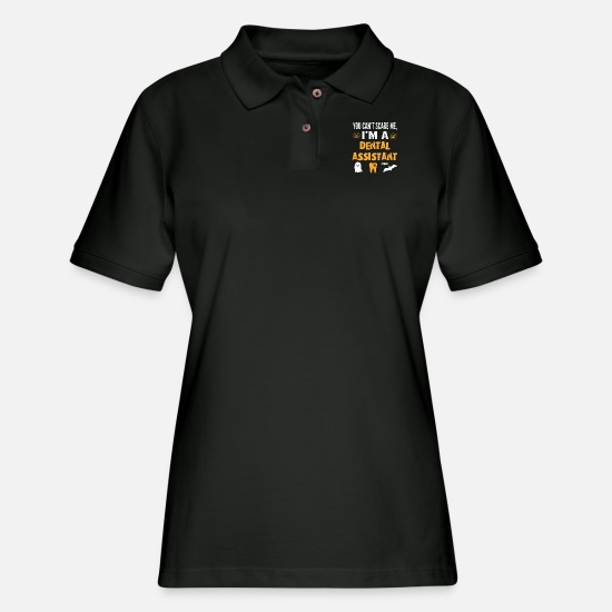 Game Polo Shirts - Dental Assistant - Women's Pique Polo Shirt black